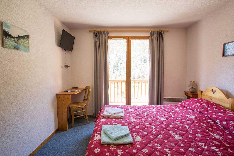 Les chambres de l'hôtel Echaillon